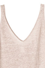 Linen jersey vest top - Light mole -  | H&M 3