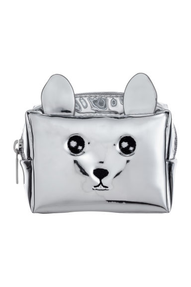 Mini pouch - Silver-coloured/Metallic -  | H&M GB