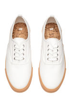 Cotton canvas trainers - White - Men | H&M CN 3