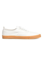 Cotton canvas trainers - White - Men | H&M CN 2
