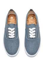 Cotton canvas trainers - Blue - Men | H&M 3