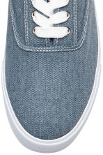 Cotton canvas trainers - Blue - Men | H&M 4