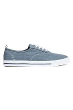 Cotton canvas trainers - Blue - Men | H&M 2