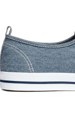Cotton canvas trainers - Blue - Men | H&M 5