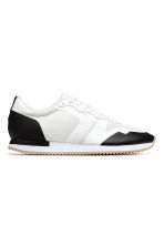 Mesh trainers - White/Black - Men | H&M 1