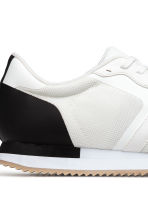 Mesh trainers - White/Black - Men | H&M 4
