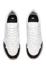 Mesh trainers - White/Black - Men | H&M 2