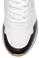 Mesh trainers - White/Black - Men | H&M 3