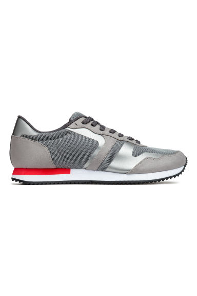 Mesh trainers - Grey/Red - Men | H&M