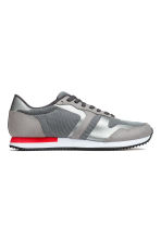 Mesh trainers - Grey/Red - Men | H&M CN 1