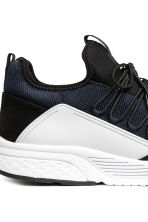 Mesh trainers - Black/White - Men | H&M 4