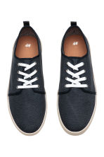 Cotton canvas trainers - Dark blue - Men | H&M 2