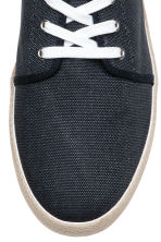 Cotton canvas trainers - Dark blue - Men | H&M 3