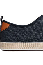 Cotton canvas trainers - Dark blue - Men | H&M 4