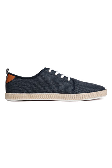 Cotton canvas trainers - Dark blue - Men | H&M CN 1