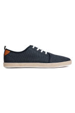 Cotton canvas trainers - Dark blue - Men | H&M 1