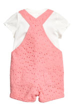 Top and dungaree shorts - Pink - Kids | H&M 2