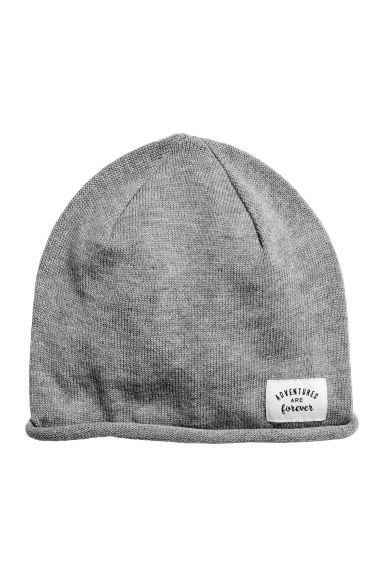 Fine-knit hat - Grey -  | H&M CN 1