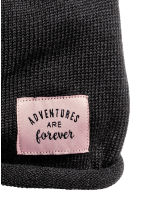 Fine-knit hat - Black -  | H&M CN 2