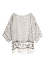 寬鬆女衫 - Light beige/Pattern - Ladies | H&M 2