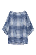 寬鬆女衫 - Dark blue/Checked - Ladies | H&M 2