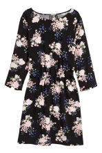 Short dress - Black/Floral - Ladies | H&M 2