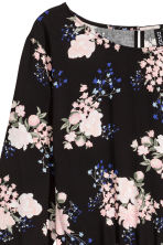 Short dress - Black/Floral - Ladies | H&M CN 3