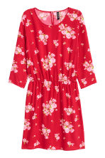 Short dress - Red/Floral - Ladies | H&M 2