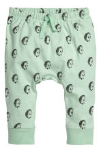 Jersey trousers - Light green/hedgehogs - Kids | H&M CA 1