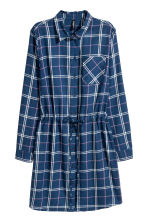 Shirt dress - Blue/White checked - Ladies | H&M 2