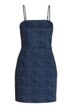Short cotton dress - Dark blue/Spotted - Ladies | H&M CN 2