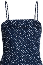 Short cotton dress - Dark blue/Spotted - Ladies | H&M CN 4