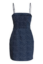 Short cotton dress - Dark blue/Spotted - Ladies | H&M CN 3