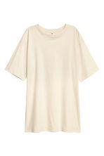Cotton jersey T-shirt - Light beige - Ladies | H&M 2