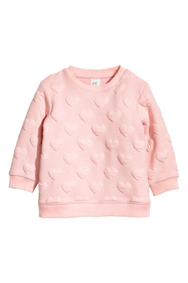 Sweatshirt - Light pink/Hearts -  | H&M CN 1