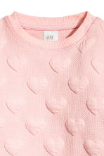 Sweatshirt - Light pink/Hearts -  | H&M CN 2