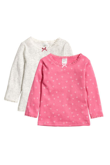 2-pack jersey tops - Pink -  | H&M GB