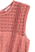 Maxi dress with lace - Vintage pink - Ladies | H&M 2
