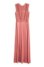 Maxi dress with lace - Vintage pink - Ladies | H&M 1
