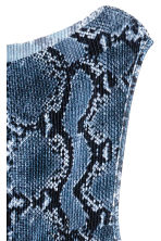 Pleated dress - Blue/Snake print - Ladies | H&M JP 2