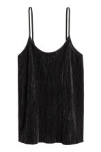 Pleated strappy top - Black - Ladies | H&M 2