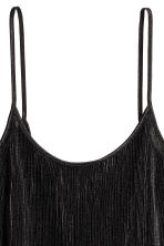 Pleated strappy top - Black - Ladies | H&M 3