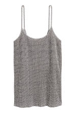 Pleated strappy top - Natural white/Patterned - Ladies | H&M GB 2