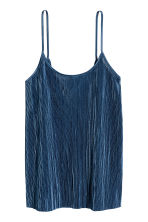 Pleated strappy top - Dark blue - Ladies | H&M CN 2