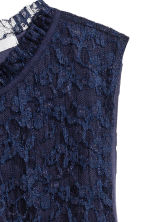 Pleated lace top - Dark blue - Ladies | H&M 3