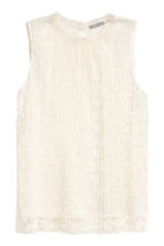 Top in pizzo plissettato - Bianco naturale - DONNA | H&M IT 2