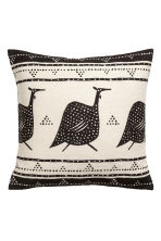 Cotton twill cushion cover - Natural white/Big birds - Home All | H&M CA 2