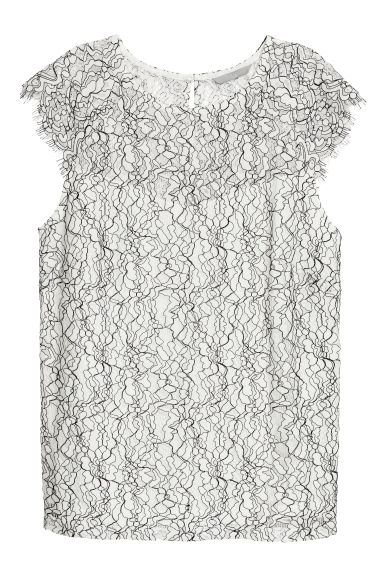 Lace top - White -  | H&M CN