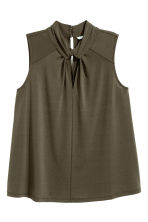Top with a stand-up collar - Khaki green - Ladies | H&M 2