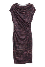 Draped dress - Black/Patterned - Ladies | H&M CN 2